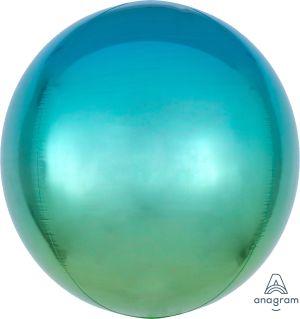 Ombre Orbz Blue & Green Flat