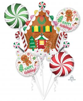 Bouquet Gingerbread House and Holiday Cookies