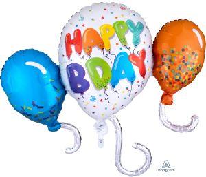 Supershape Birthday Celebration Balloons
