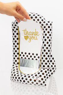 Gift-N-Flate Black Polka Dots