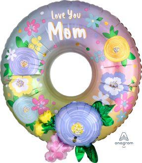 Multi-Balloon Love Mom Wreath
