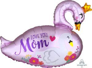 SuperShape Satin Mama and Baby Swan