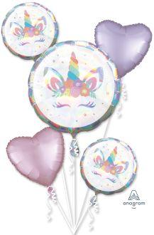 Bouquet Unicorn Party Iridescent
