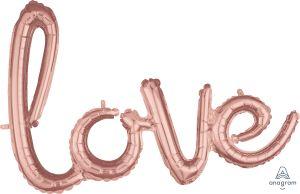 Script Phrase Love Rose Gold