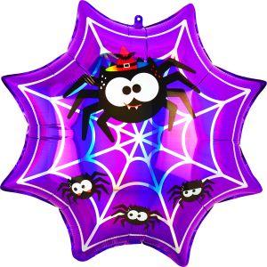 SuperShape Holographic Iridescent Spiderweb