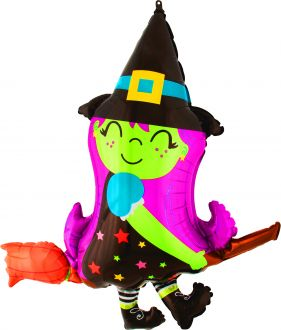 SuperShape Cute Witch on Broom