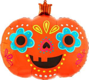 SuperShape Day of the Dead Pumpkin