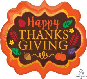 SuperShape Satin Thanksgiving Marquee