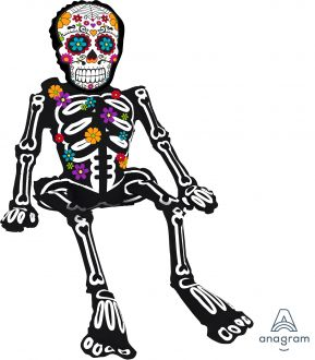 CI: Sitting Day of the Dead Skeleton