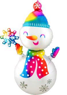 Multi-Balloon Satin Snowman