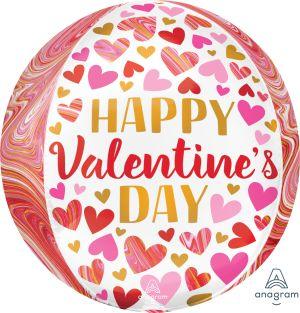 Orbz Happy Valentines Day Marbling