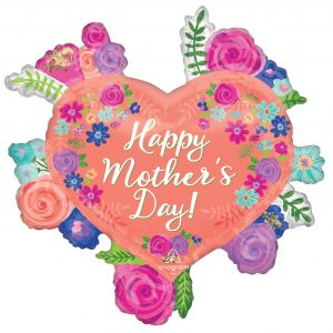 SuperShape Happy Mothers Day Floral Heart