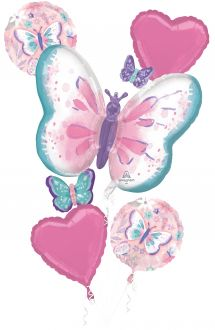 Bouquet Flutters Happy Birthday