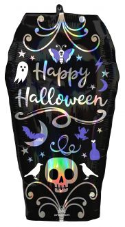 SuperShape Holographic Iridscent Coffin