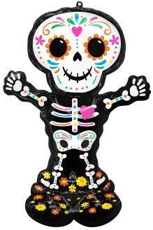 AirLoonz Day of the Dead Standing Skeleton