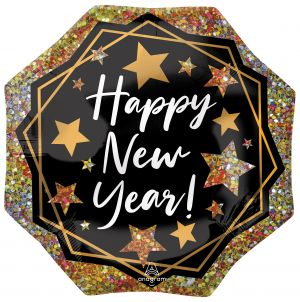 SuperShape Happy New Year Gold Sparkle