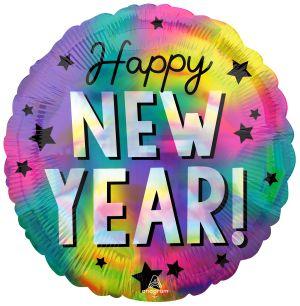 Standard Holo Iridscent Happy New Year Stars