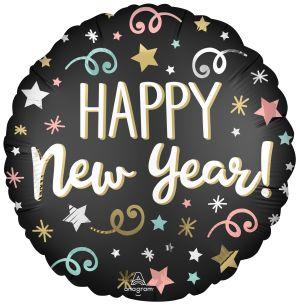 Standard Satin Confetti New Year