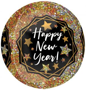 Orbz Happy New Year Gold Sparkle