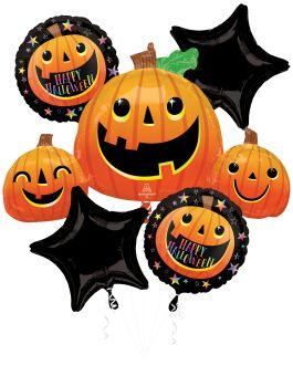 Bouquet Smiley Halloween Pumpkins