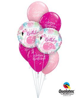 Bouquet In A Box Bday Flamingo
