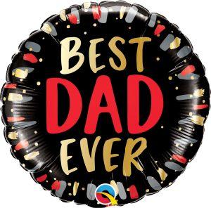 "18"" Best Dad Ever Black"