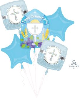 Bouquet Communion Blessing Blue