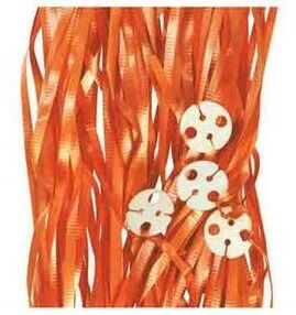 Pre-Cut Balloon Ribbon Orange (50pcs)